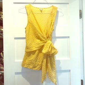 Anthropologie Odille Gingham Wrap Blouse